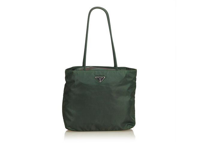 0b17e47a69f318 Prada Nylon Tote Bag Totes Nylon,Cloth Green,Dark green ref.90497 ...