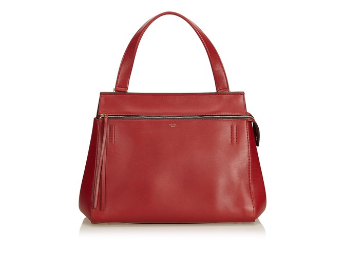Céline Large Edge Bag Handbags Leather,Other Red ref.90499