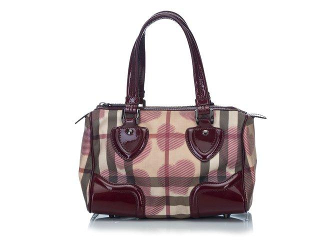 70e6190dbf63 Burberry Heart Print Boston Bag Handbags Leather