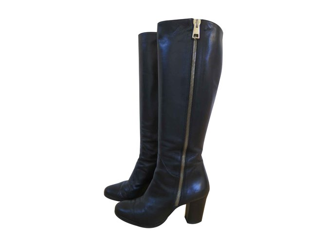 Leather Boots Ref Black Vero Cuoio 90641 BhsrdxtQCo