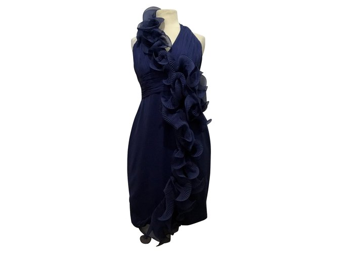 811342f8c2b9 Marchesa Dresses Dresses Silk Dark blue ref.90642 - Joli Closet
