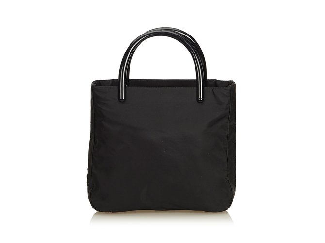 16a21b52adba Prada Nylon Tote Bag Handbags Other,Plastic,Nylon,Cloth Black ref.90707