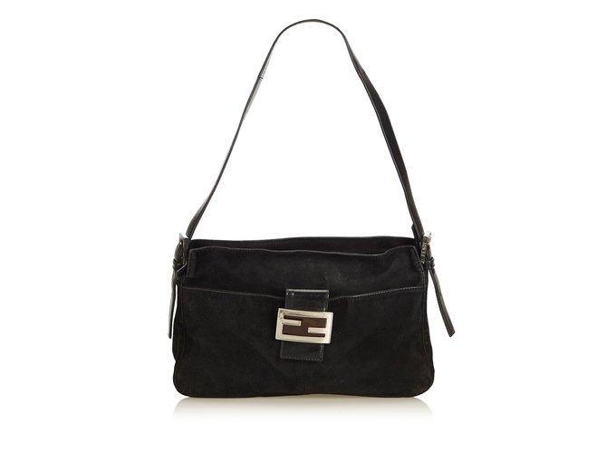 59149ec29f43 Fendi Suede Shoulder Bag Handbags Suede