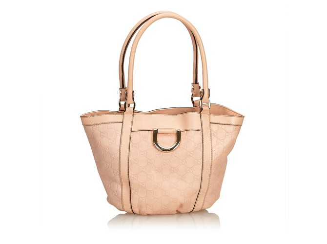 6a03dba65d9e Gucci Guccissima Leather Tote Bag Totes Leather,Other Pink ref.90732 ...