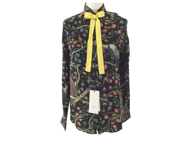 216cadb4a Gucci Tops Tops Silk Multiple colors ref.90912 - Joli Closet