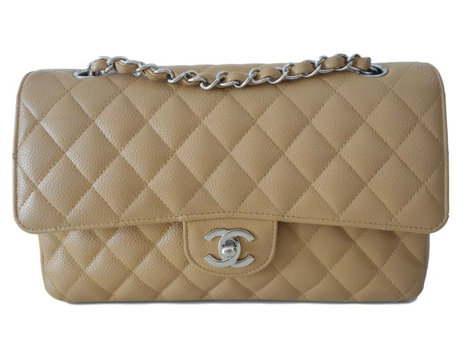 aba62f13fbca Chanel CLASSIC GOLD BAG Handbags Leather Caramel ref.90945 - Joli Closet