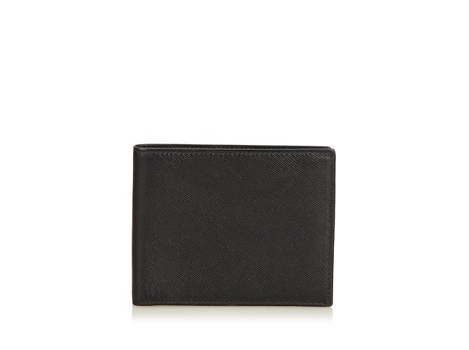 31265f8bfcc2 Prada Leather Small Wallet Wallets Small accessories Leather,Other Black  ref.91026