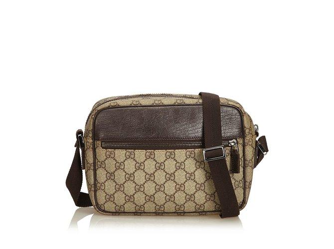 ecaac9eb691f Gucci Guccissima Canvas Crossbody bag Handbags Leather,Other,Cloth,Cloth  Brown,Beige