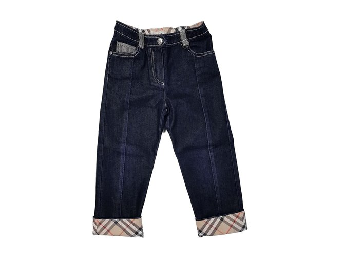 Pantalons fille Burberry Pantalons Jean Bleu ref.91132