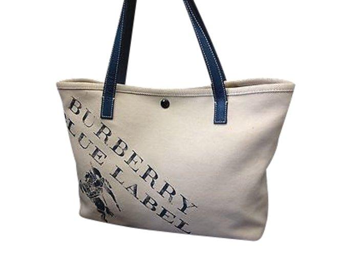 022737f47b28 Burberry Blue Label Shoulder Bag Handbags Cotton Beige ref.91148 ...