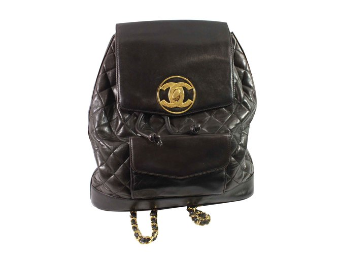 10de05351b4a Chanel Backpack Backpacks Leather Brown ref.91257 - Joli Closet