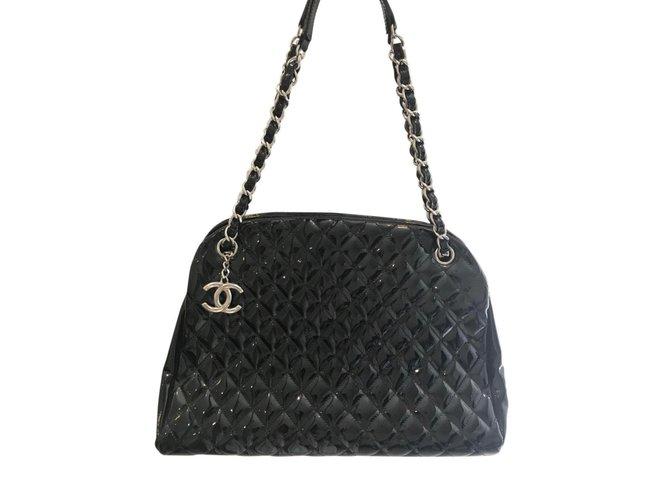cbdc72023599 Sacs à main Chanel SAC CHANEL CUIR VERNI Cuir vernis Noir ref.91265 ...