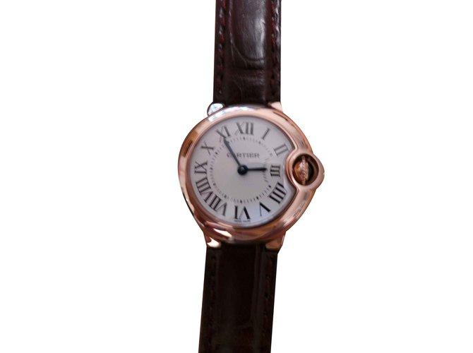 montre cartier ballon bleu bracelet cuir
