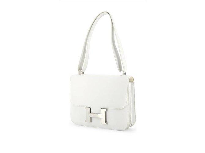 Sacs à main Hermès Constance 23 Cuir Blanc ref.91269