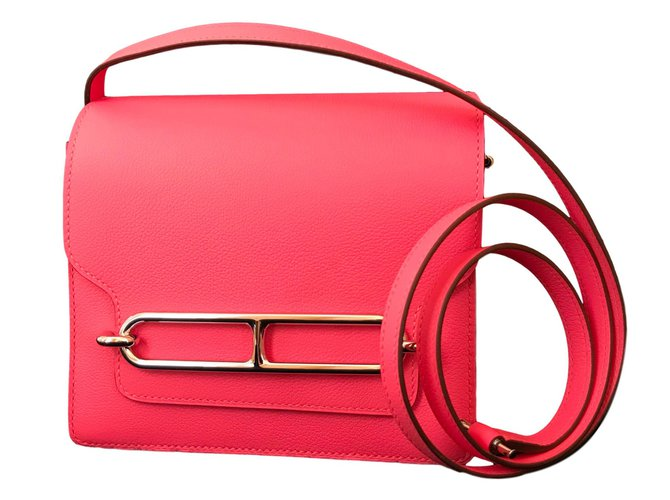Hermès Mini Roulis Handtaschen Leder Pink ref.91279