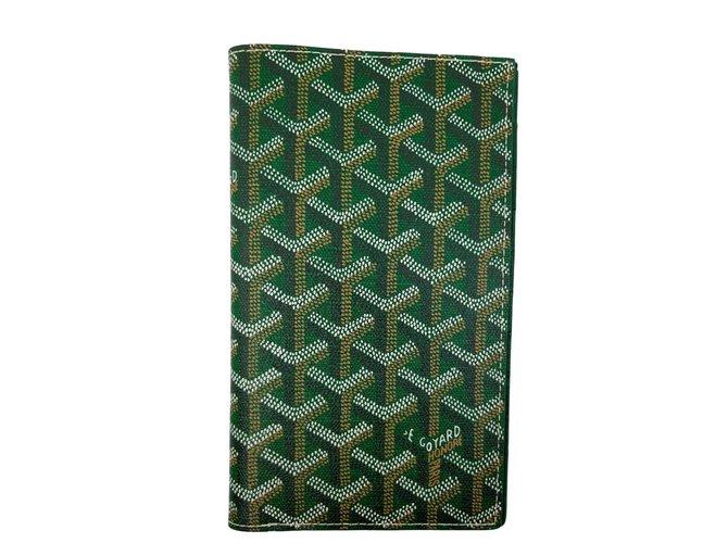 Petite maroquinerie homme Goyard Portefeuilles Petits accessoires Cuir Vert clair ref.91419
