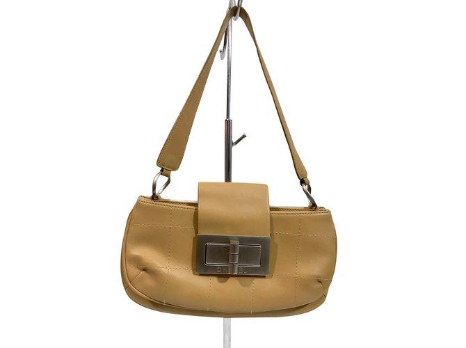 49de8198d445aa Chanel vintage bag Handbags Leather Caramel ref.91476 - Joli Closet