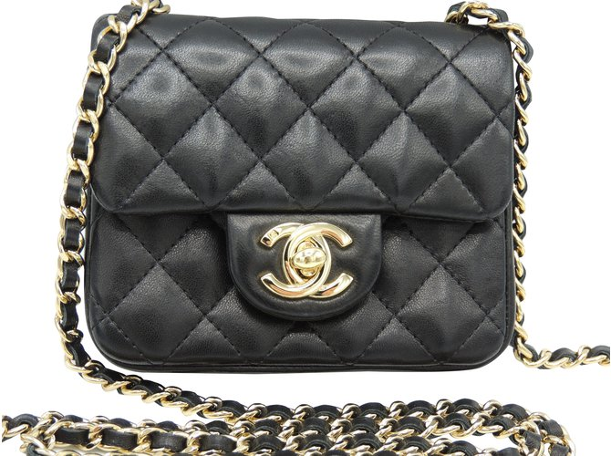 ebb187ee285b Chanel CHANEL MINI TIMELESS condition OF THE NINE Handbags Leather Black  ref.91505