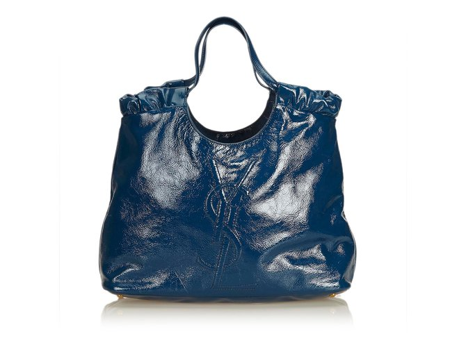 c76f362539 Yves Saint Laurent Patent Leather Beautiful Day Tote Totes Leather ...