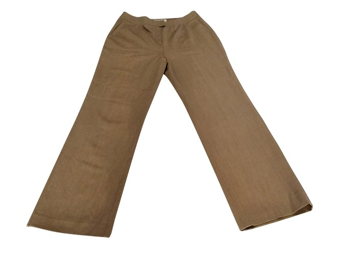 Chloé Wool Trousers Pants, leggings Wool Brown ref.91607