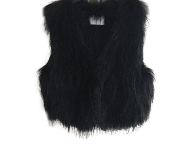 Yves Salomon Jacket Jackets Fur Black ref.91657