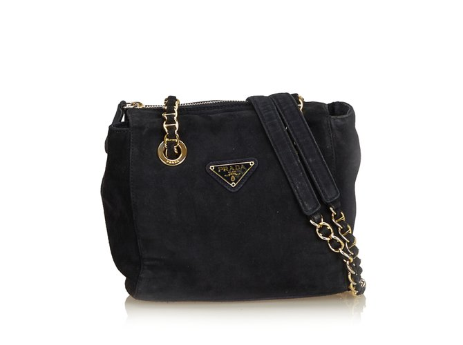 90a03a602630 Prada Suede Chain Shoulder Bag Handbags Suede