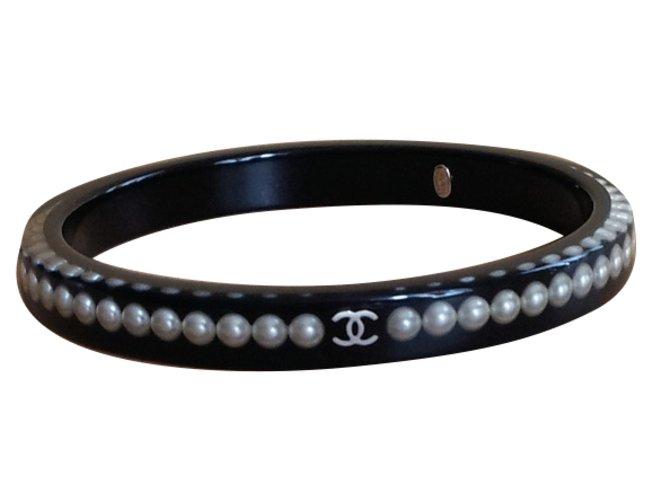Bracelets Chanel MODELE PERLES Autre Noir ref.91815