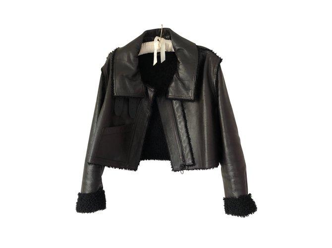 b80b4c6f7fb Manteaux Louis Vuitton Veste courte en cuir Cuir Marron ref.91843 ...