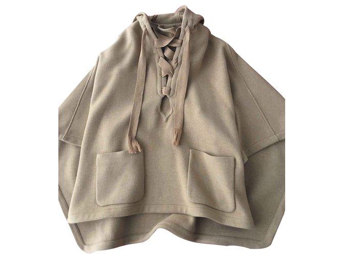 Chloé Cape Iconic Coats, Outerwear Wool Beige ref.91905