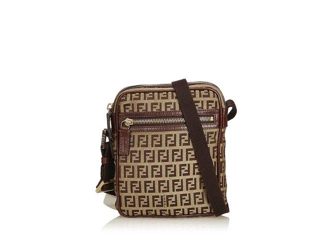 15dc818ece Fendi Zucchino Jacquard Crossbody Bag Handbags Leather