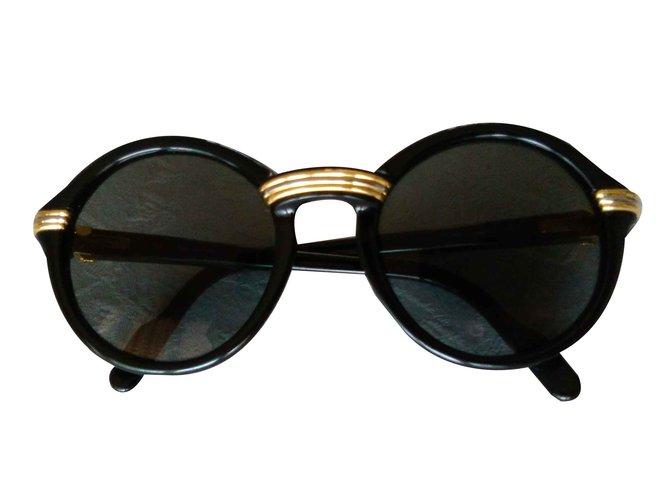 bc951ed21c Lunettes Cartier Cabriolet Black / Lunettes de soleil Vintage / Lunettes de  soleil Legendery '90