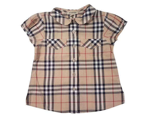 Tops fille Burberry T-shirts Coton Multicolore ref.92245