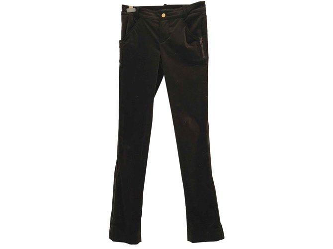 Pantalons Gucci velours Coton Marron ref.92263