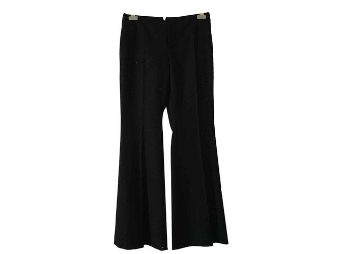 Pantalons Gucci Laçage Laine Noir ref.92265