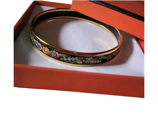 f285f17e6c0 Hermès Vintage 18k Gold Plated Hermes Bracelet and Multicolored Enamel  Bracelets Gold-plated Multiple colors