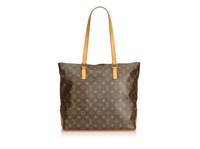 Louis Vuitton Monogram Cabas Half Totes Leather b9b7adcd17559