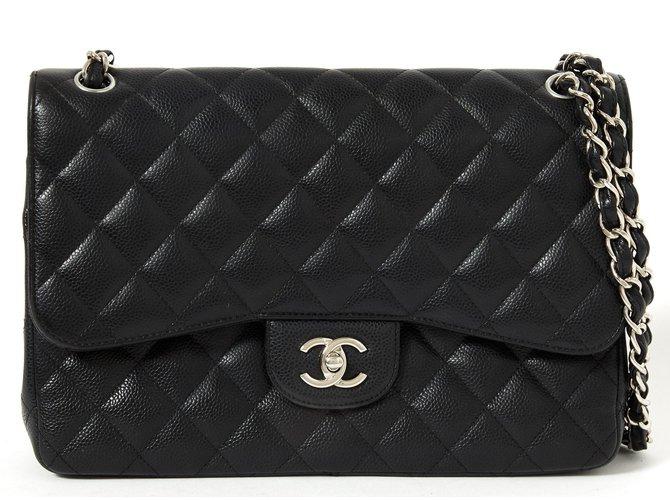 c225dbe0b47 Chanel Grand Sac Classic Black Timeless Caviar Handbags Leather Black  ref.92460