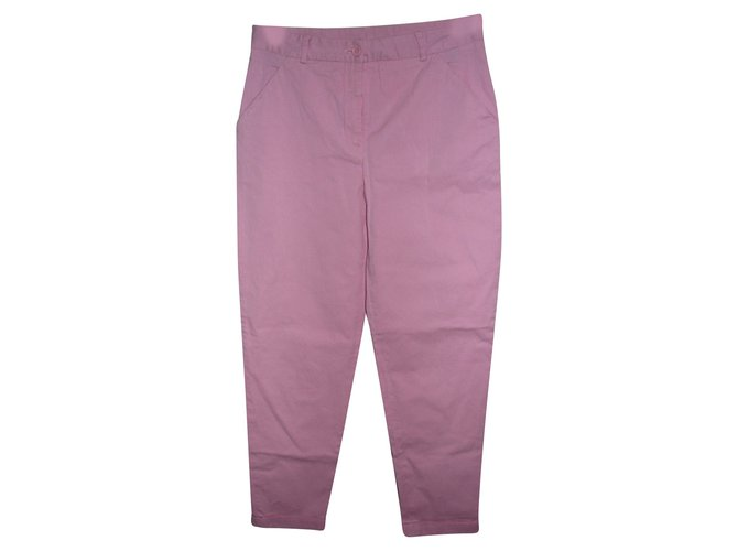 Dolce & Gabbana Cropped trousers Pink Cotton Elastane  ref.92481