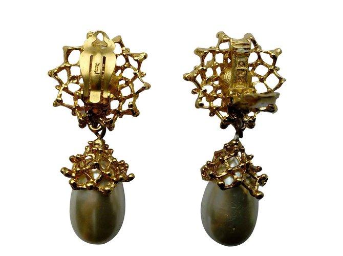 8e4e533d808 Yves Saint Laurent Clip-on Earrings Earrings Metal Golden ref.92506 ...