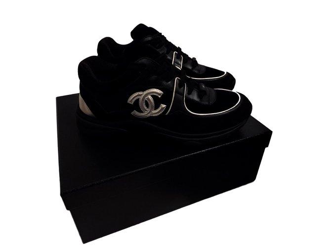 Chanel Sneakers Sneakers Deerskin Black ref.92519