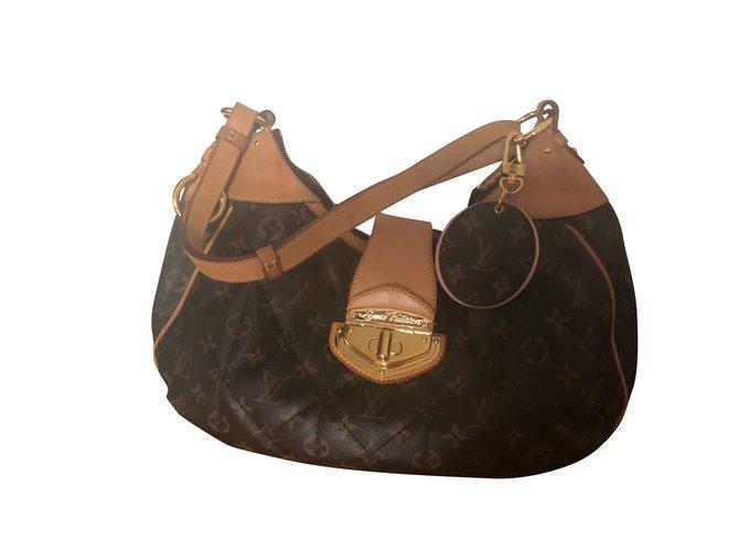 b84924e8dec6 Louis Vuitton Handbags Handbags Leather Brown ref.92555 - Joli Closet