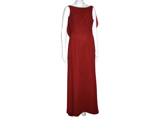 54b200b4d6e4 Jenny Packham Evening gown Jenny Packham Wonder Collection Dresses  Polyester Red ref.92642