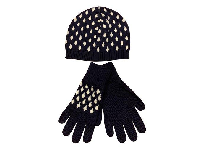 Kenzo GLOVES   BONNET Gloves Wool Navy blue ref.92658 - Joli Closet f03028d03f7