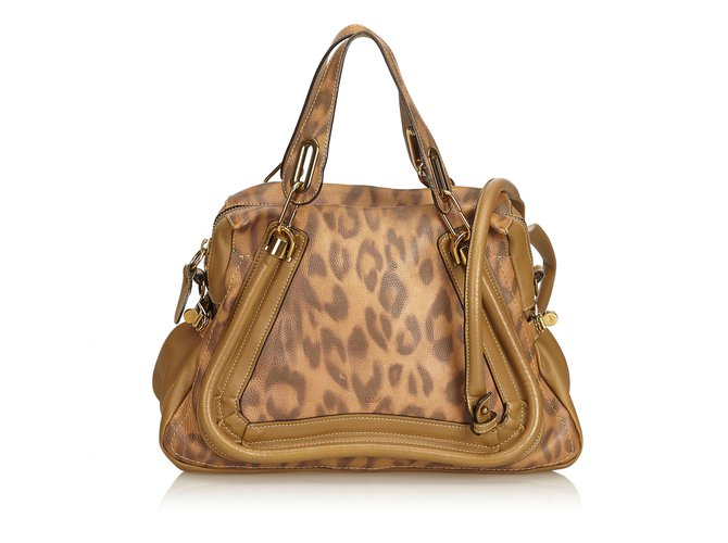 new high quality superior quality latest design Chloé Leopard-Printed Leather Paraty Handbags Leather,Other ...