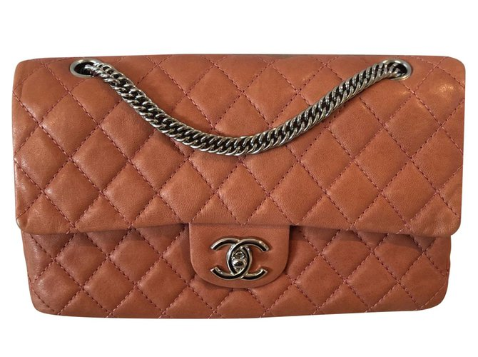 Chanel TIMELESS Handbags Leather Coral ref.92767