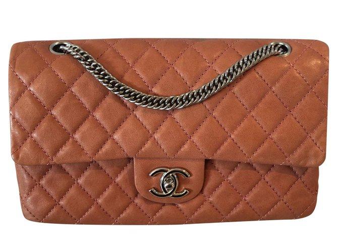 Sacs à main Chanel Timeless Cuir Corail ref.92767