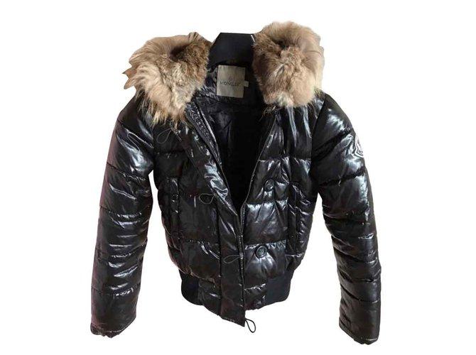 365b2f83f17 Manteaux Moncler Doudoune Polyester Noir ref.92776 - Joli Closet
