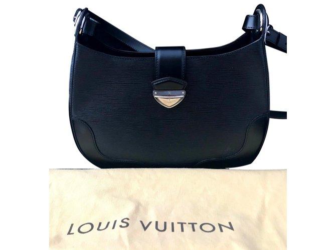 9a8b0e17d123 Louis Vuitton bagatelle musette Handbags Leather Black ref.92819 ...