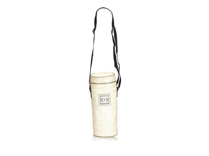 375203e28b60 Chanel Sport Line Quilted Nylon Shoulder Bag Handbags Nylon,Cloth Black, White,Cream