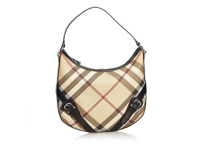 Burberry Nova Check Hobo Bag Handbags Leather 291bcdd80b4e2